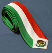 Mexico Flag Colors Striped Necktie