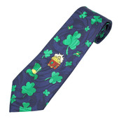 Men's Happy St. Patrick's Day Necktie / Black