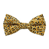 Men's Cheetah Animal Print Pre-Tied Clip-On Bow Tie