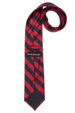 Stripe Woven Men's College Striped Extra Long Tie - Red Black