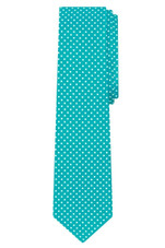 "Polka Dot Print Men's Slim 2.75"" Polka Dotted Tie - Teal"
