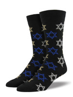 Men's Star of David Crew Novelty Socks