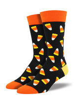 Men's Candy Corn Crew Novelty Socks