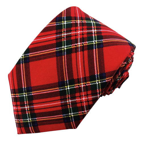 Red Christmas Plaid Ties (Men & Boys Sizes)