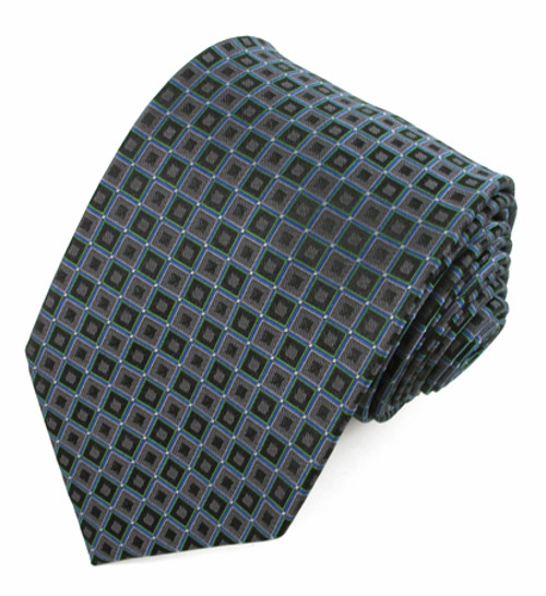 X-Long Dark Gray Pattern Tie #948219