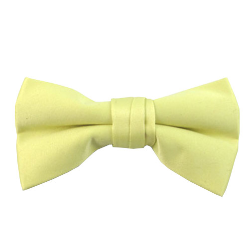 Boys Sunshine Yellow Band Bow Tie