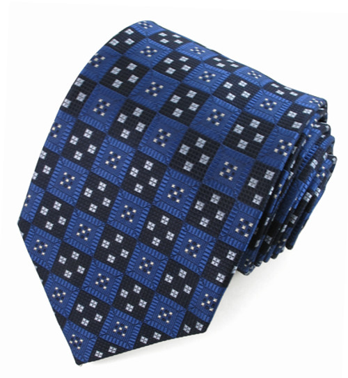 X-Long Blue Pattern Tie #187372