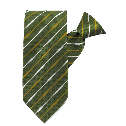 Lime Striped Beauty Clip on Tie