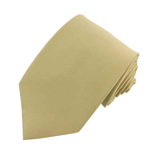 Taupe Solid Polyester Tie