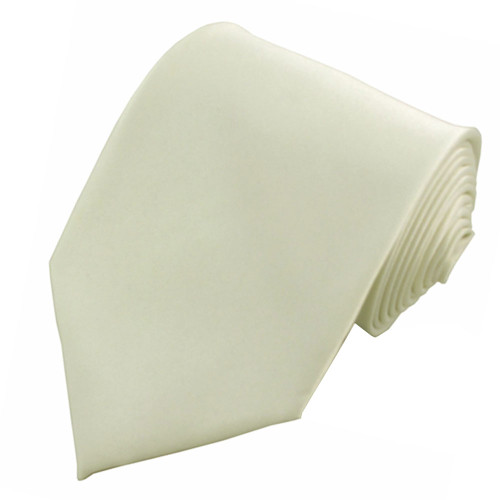 Off White Polyester Ties