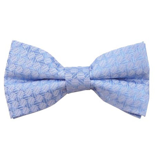 Baby Blue Tone on Tone Band Bow Tie