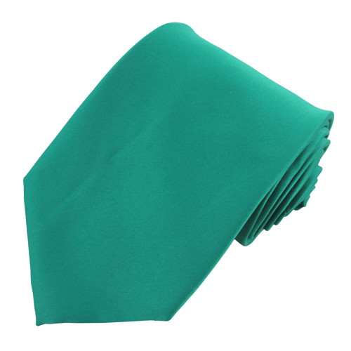 Teal Solid Polyester Tie