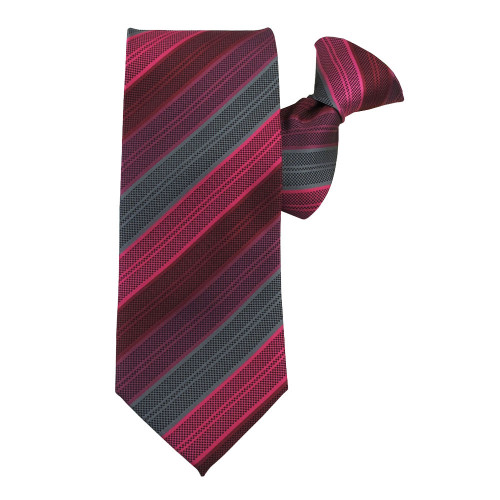 Pink Rainbow Stripe X-Long Clip on Tie