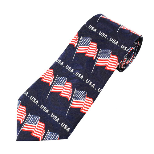 USA Pattern Flag Tie