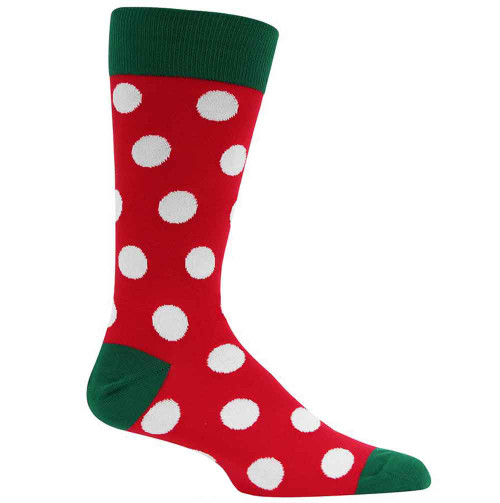 Men's Holiday Dot Crew Socks