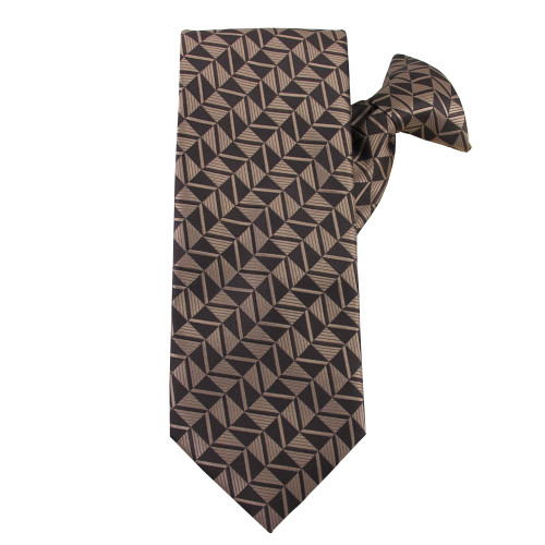 Brown Optical Games Clip on Tie
