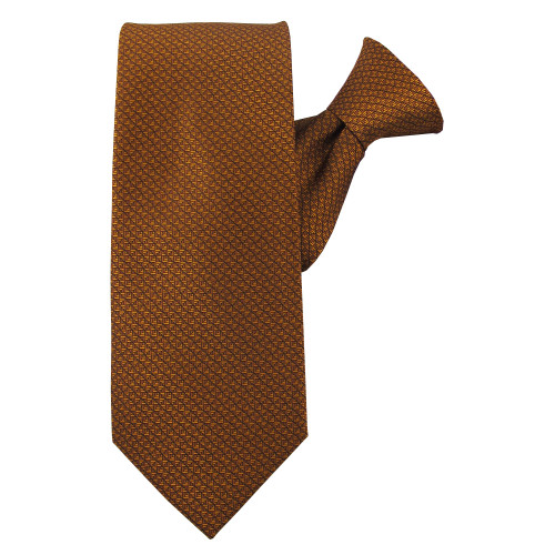 Rust Perfection Clip On Tie