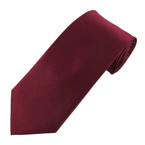 Burgundy Satin Silk Ties