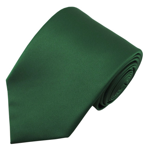 X-Long Forest Green Polyester Tie