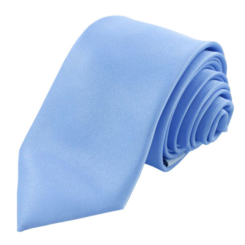 Baby Blue Solid Polyester Tie