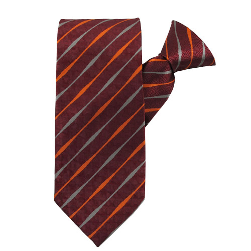 Red Striped Beauty X-Long Clip on Tie