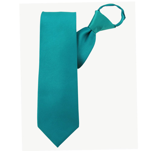 Teal X-Long Zipper Tie