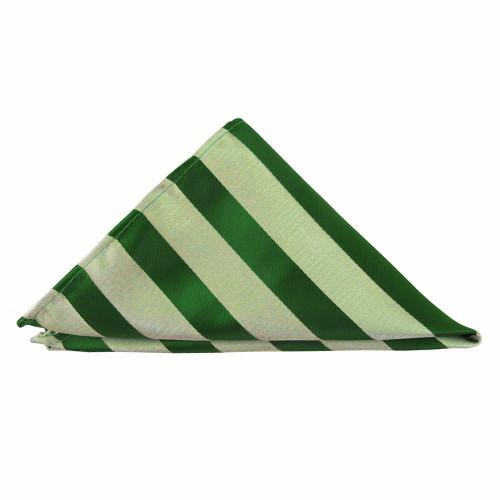 Kelly Green Tonal Stripe Pocket Square