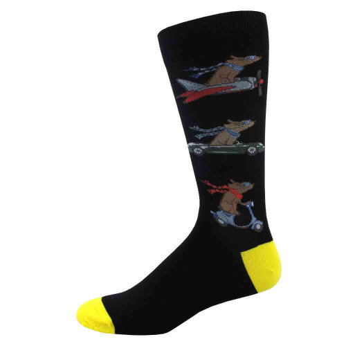 Men's Dog Travels Socks