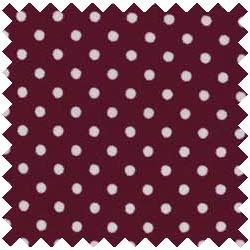 Dotted Burgundy