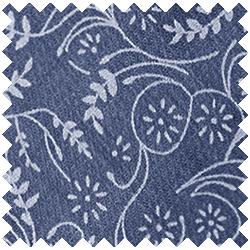 Floral Slate Blue
