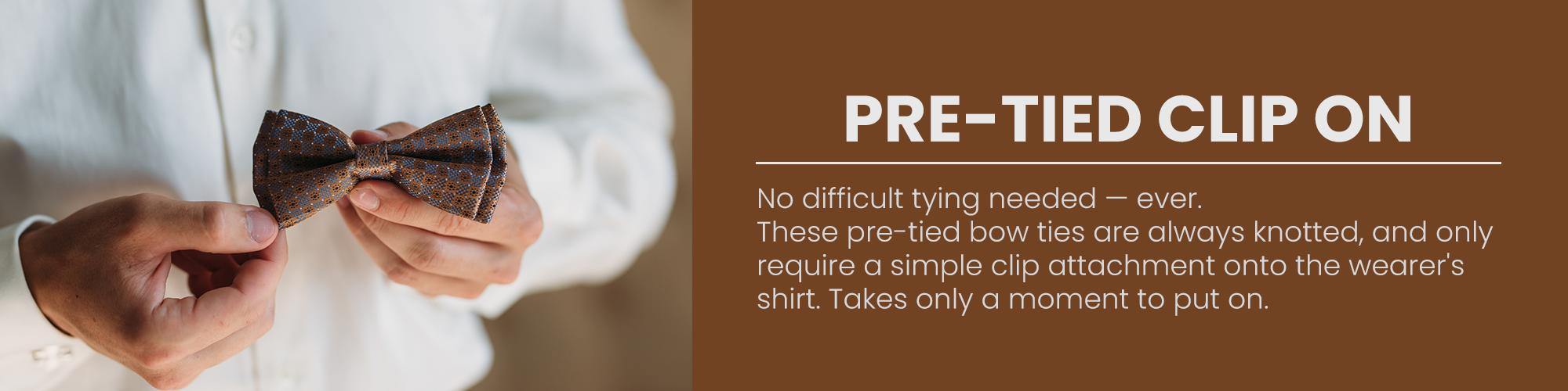 Pre-Tied Clip-On
