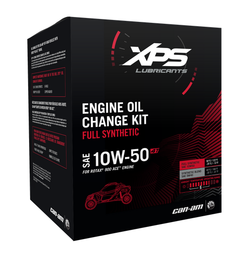 Can Am OEM 10W-50 Oil Change Kit for Rotax 900 ACE (Maverick X3, etc.)