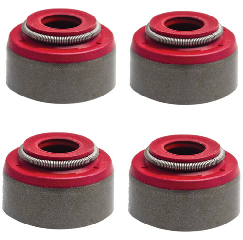 "Kibblewhite Red Viton 5/16"" Stem x 0.530"" Guide Seal Valve Guide Seals: 84-04 Various Harley Davidson Evolution / Sportster / Twin Cam Models (5/16"" Valve Stems) (Pack of 4)"