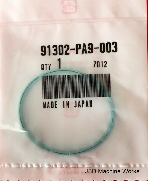 91302-PA9-003 OEM Honda Oil Filter Cover O-Ring