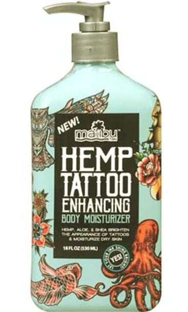 Malibu Tan Hemp Tattoo Enhancing Body Mosisturizer 25 oz