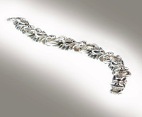 DraKo Collection Sterling Silver Dragon Head Bracelet