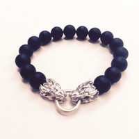 DraKo Collection Mini Dragon Bead Stretch Bracelet