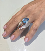 Angel Wing Blue Topaz Ring