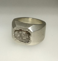 Alpha Diamond Slice Chunky Ring 1.00 Ct Carat Diamond