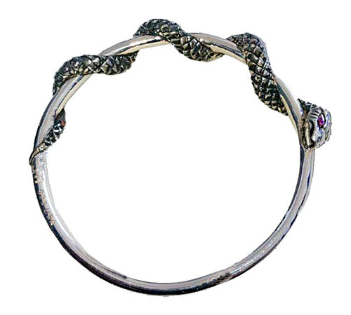 Twisted Snake Bangle Bracelet