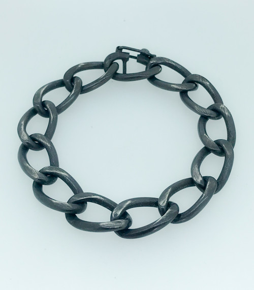 Organic Collection Oxidized Sterling Silver Link Bracelet