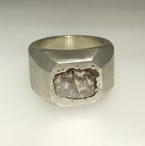 Diamond Slice Chunky Ring 1.00 Ct Carat Diamond