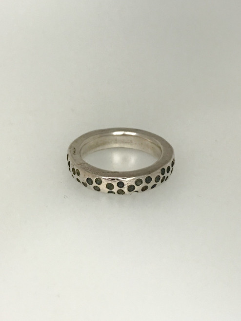Chunky Stackable Ring with Holes Silver