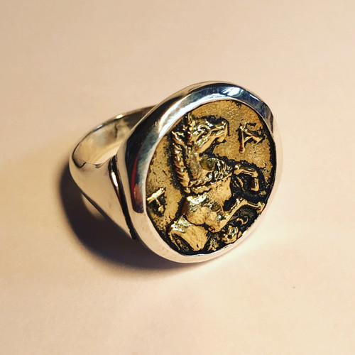 Greek Coin Replica Ring