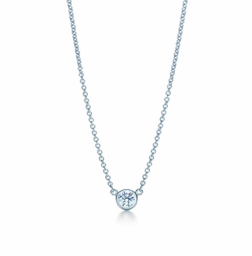 Single Bezel Set Natural Diamond Pendant 1/5 Carat