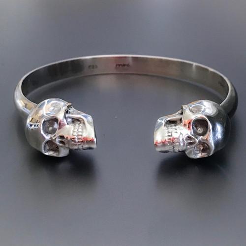 Dia de los Muertos Large Skull Cuff Bracelet