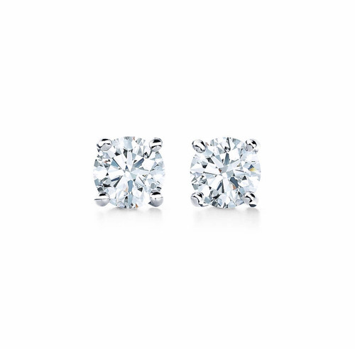 Natural Diamond 1/2 Carat TW Stud Earrings on 14kt Gold Settings