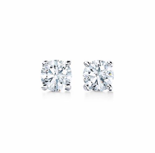 Natural Diamond 1/2 Carat TW Stud Earrings on 14kt Gold Settings