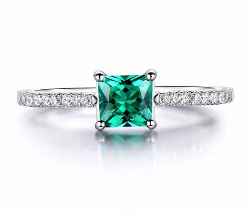 Natural Colombian Emerald & Diamond Ring