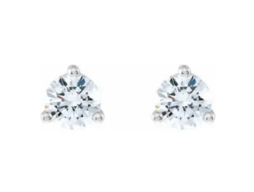 Natural Diamond Petite Stud Earrings 1/5 Carat